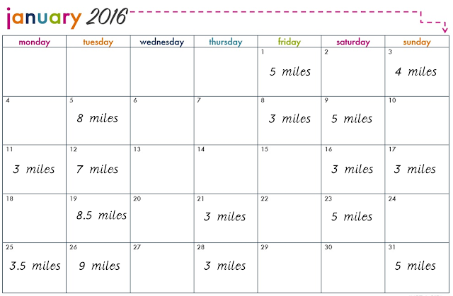 Running Diary {Miles for January} // 76sunflowers