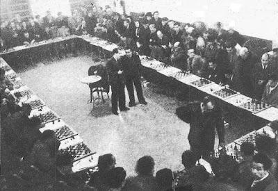 Simultáneas de ajedrez de Alekhine en Barcelona en 1944