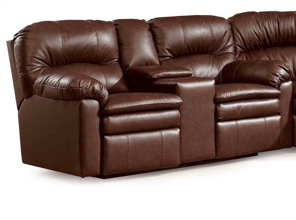 The best home furnishings reclining sofa reviews lane for Leather sectional sofa lane