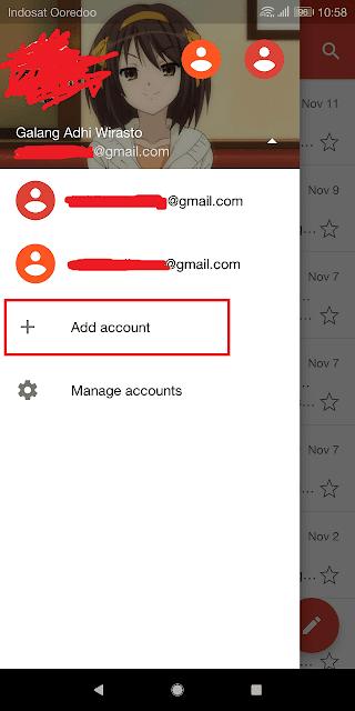 menambahkan akun gmail baru