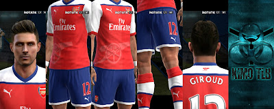 PES 2013 Leaked Arsenal Kit 2017 By KIMO T.L.B 19
