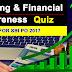 Banking & Financial Awareness 2017 Quiz PDF