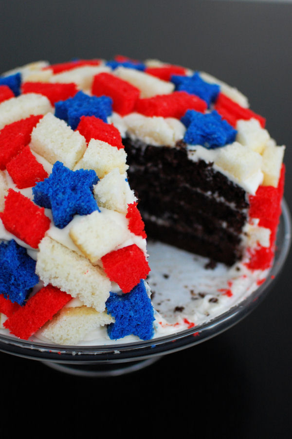 Patriotic Quake Cake Beantown Baker