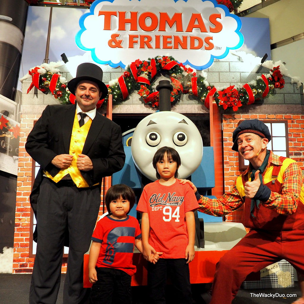 Thomas friends christmas show city square mall the wacky duo meet and greet thomas friends m4hsunfo