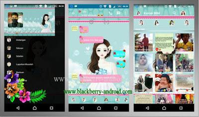 BBM Mod Blue Girl Apk