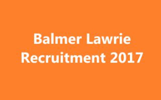Balmer Lawrie Recruitment – Assistant Manager Vacancy – Last Date 20 November - balmerlawrie.com