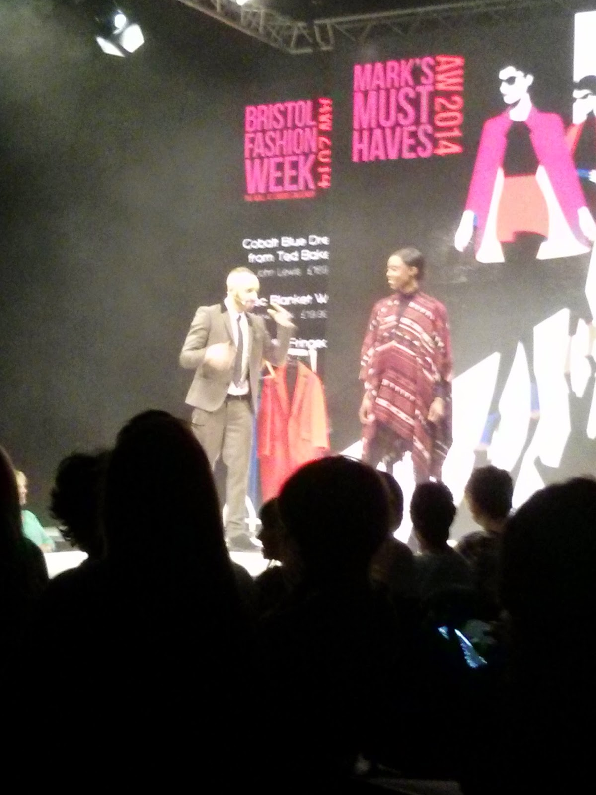 Loving this multi-purpose blanket wrap. Warm Helen snuggles for all :), Bristol Fashion Week AW 2014
