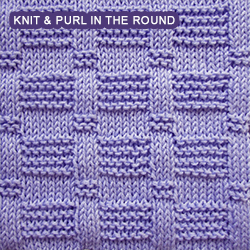 Knitting A Pattern In The Round : Blocks - Pattern 2 - knitting in the round Knit - Purl stitches