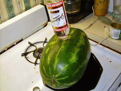 Melone mit Wodka füllen - extrem lustig Ideen zum saufen