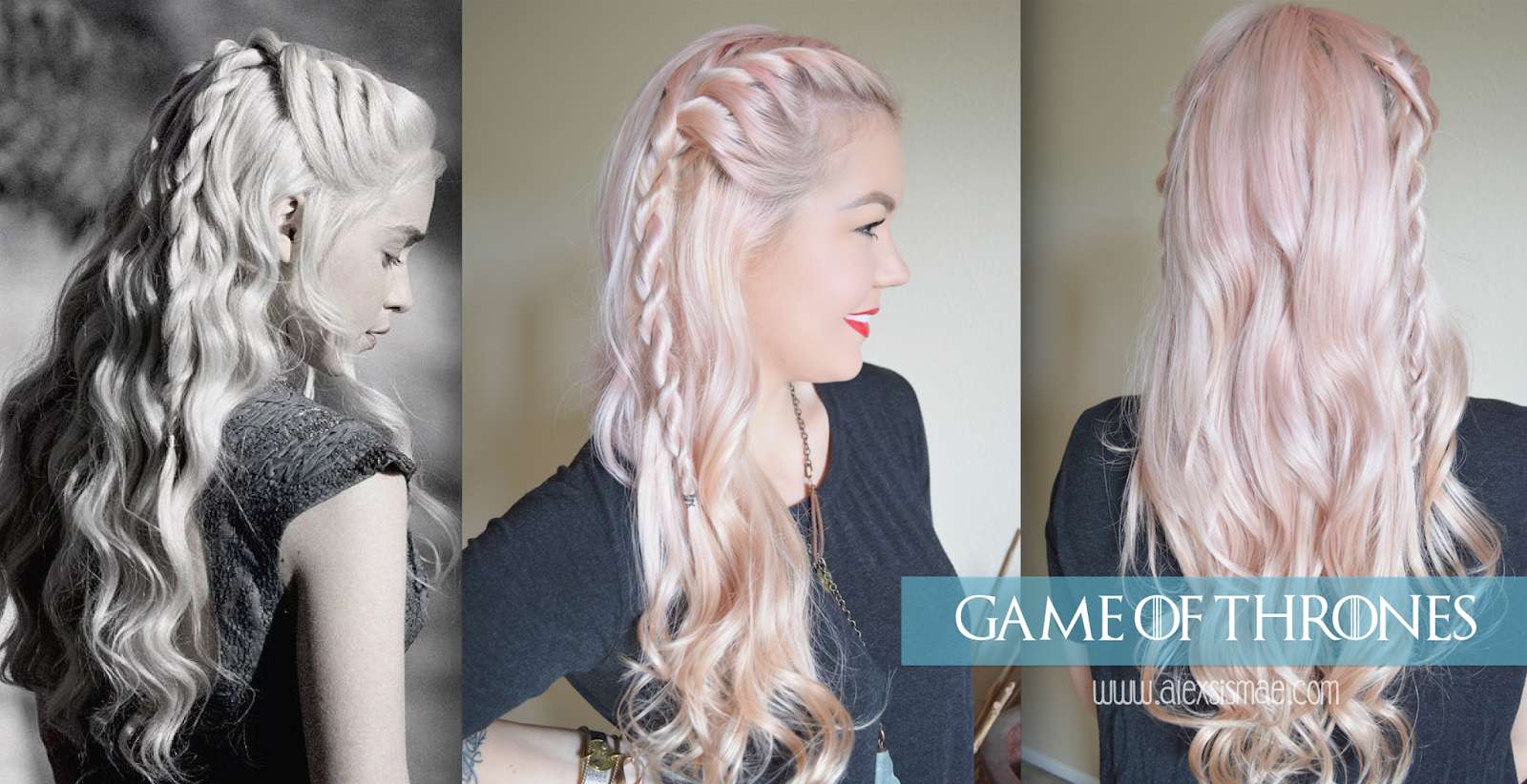 Alexsis Mae : Daenerys Targaryen Rope Braids GOT Series - Easy Hairstyles With Braids