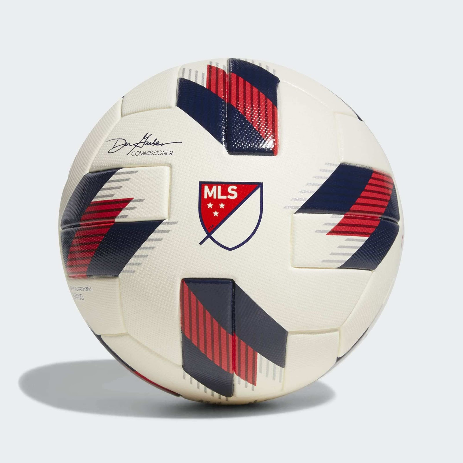 f5ed23902 ... Ball is off-white with red and navy applications. It is a design that  comes with various elements that can be also found on the Adidas MLS 2018  All-Star ...