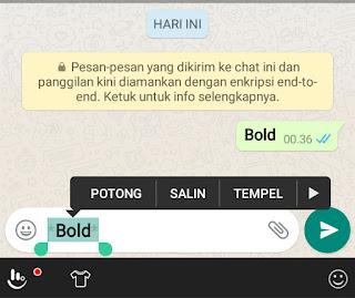 cara membuat tulisan terbalik di whatsapp