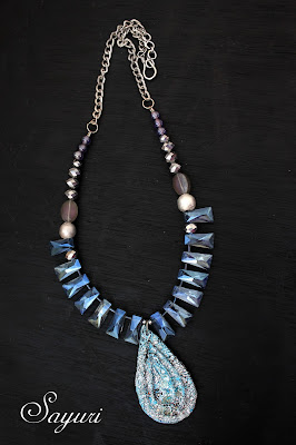 crystal and paper necklace