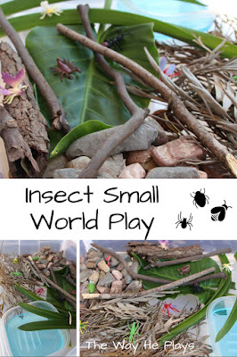 Insect small world play image for Pinterest