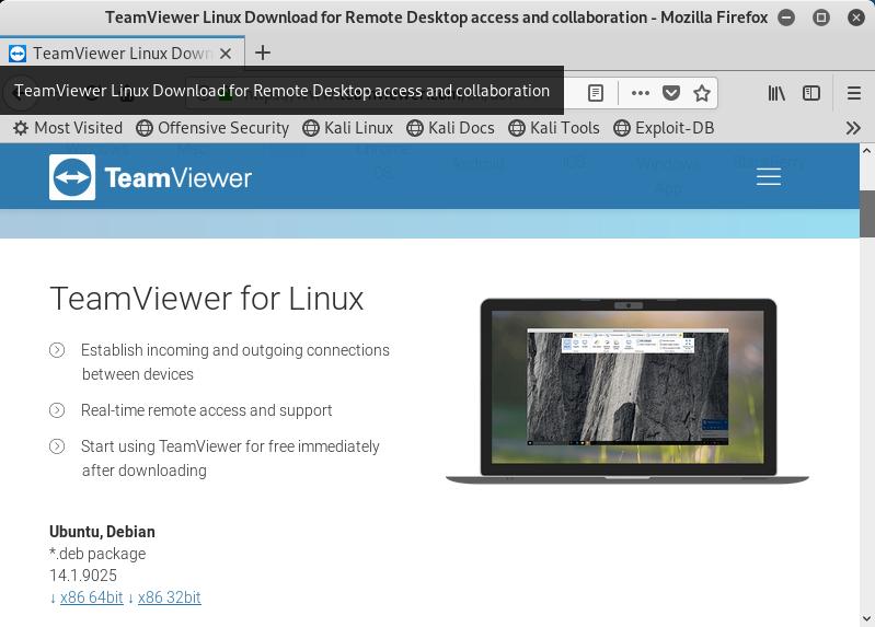 Information Technology: Kali Linux: Installare TeamViewer da terminale