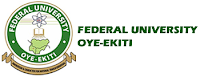 Federal University Oye-Ekiti, FUOYE admission list of UTME candidates for the 2016/2017 academic session is now available online