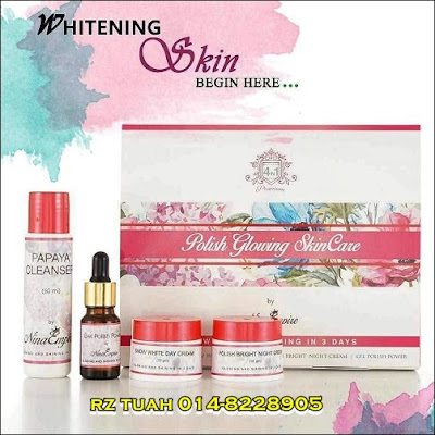 polish glowing skincare nina