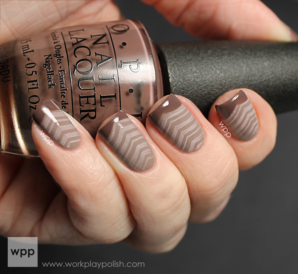 OPI You Don't Know Jacques, Berlin There Done That and My Very First Knockwurst (work / play / polish)