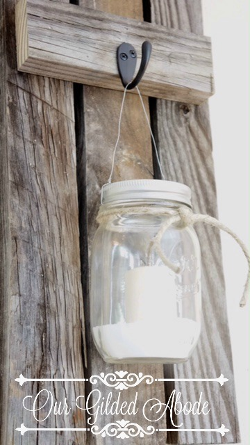 Diy Battery Operated Wall Sconces : DIY Weathered Wood Jar Sconces