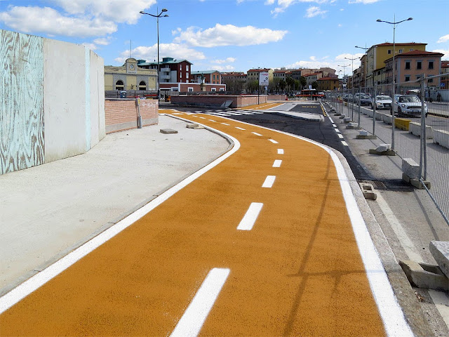 New bike lane, Porta a Mare, Livorno
