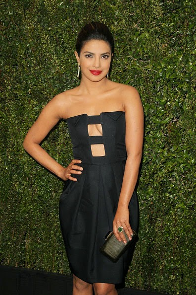 Priyanka Chopra's Cleavage at Pre-Oscar Party