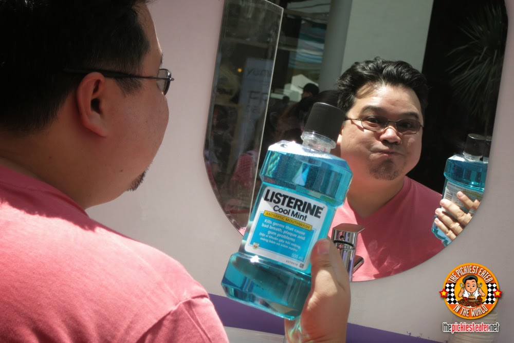 gargling with listerine