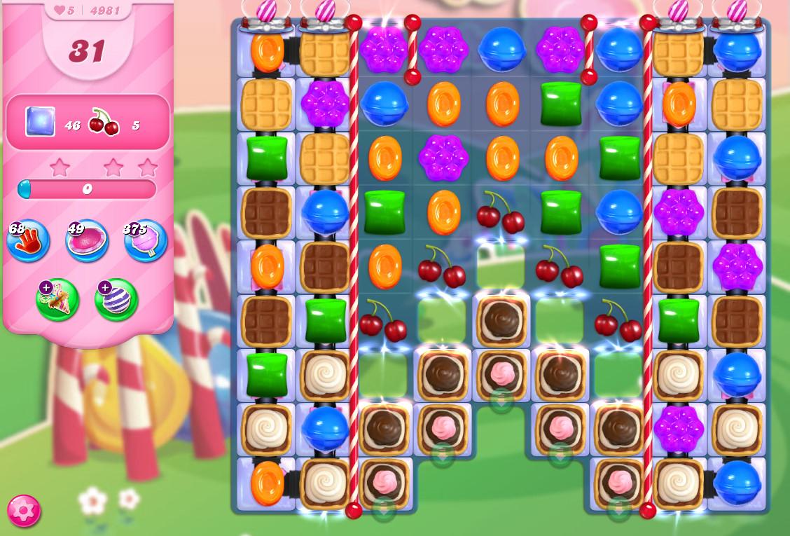 Candy Crush Saga level 4981