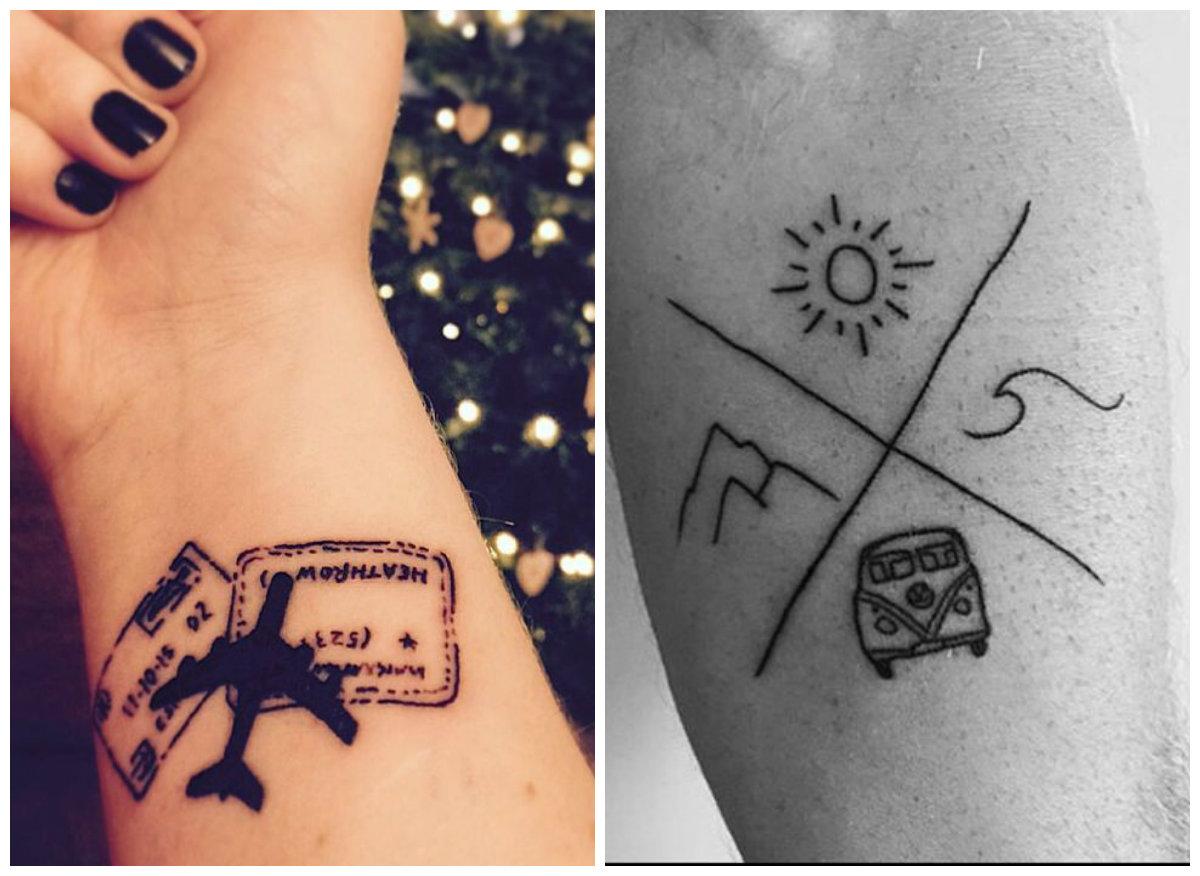 20 tatuagens para quem ama viajar pequenas infinidades. Black Bedroom Furniture Sets. Home Design Ideas