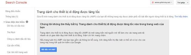 Cấu hinh amp cho website