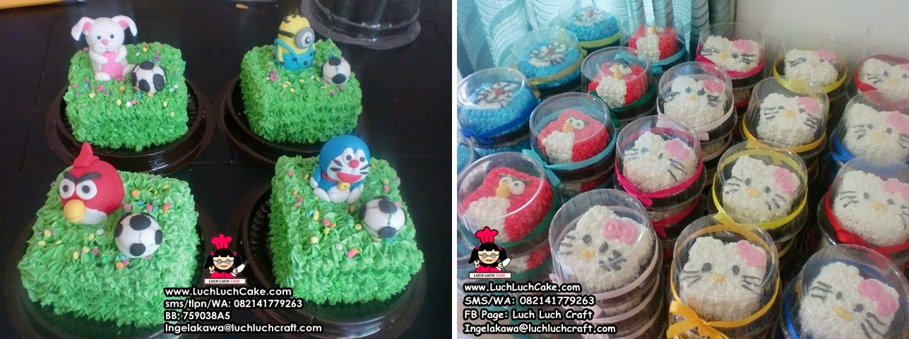 mini cake souvenir ulang tahun anak daerah surabaya - sidoarjo