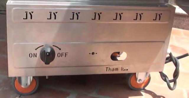 Tủ nấu cơm gas điện 10 khay tại Sài Gòn