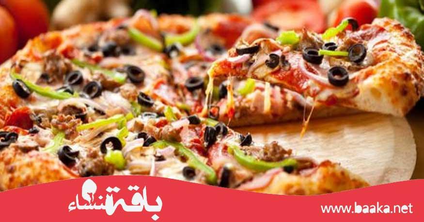 طريقة تحضير البيتزا الايطالية في المنزل