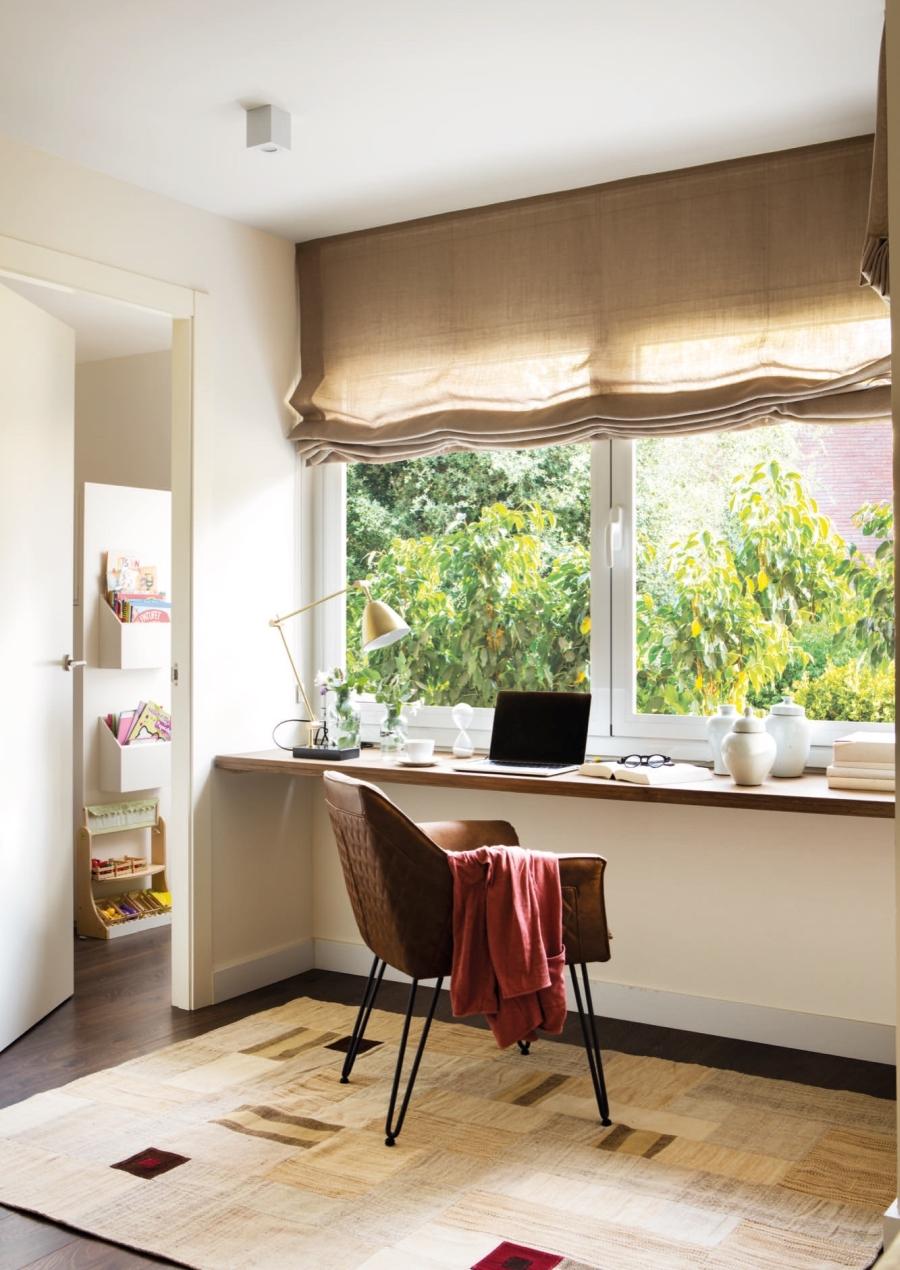 wystrój wnętrz, wnętrza, urządzanie mieszkania, dom, home decor, dekoracje, aranżacje, open space, glass wall, otwarta przestrzeń, szklana ściana, pracownia, home office, biurko