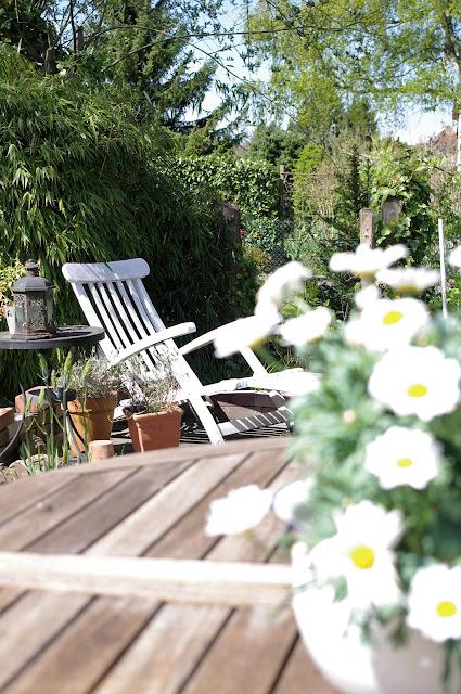 Shabby chic Garten