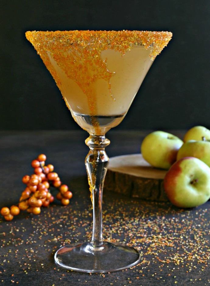 Bourbon cocktail with ginger syrup and sparkling apple cider.