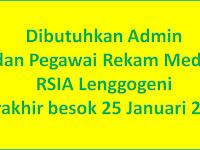 Lowongan Admin & Rekam Medis RSIA Lenggogeni - Padang Close 25 Januari 2018