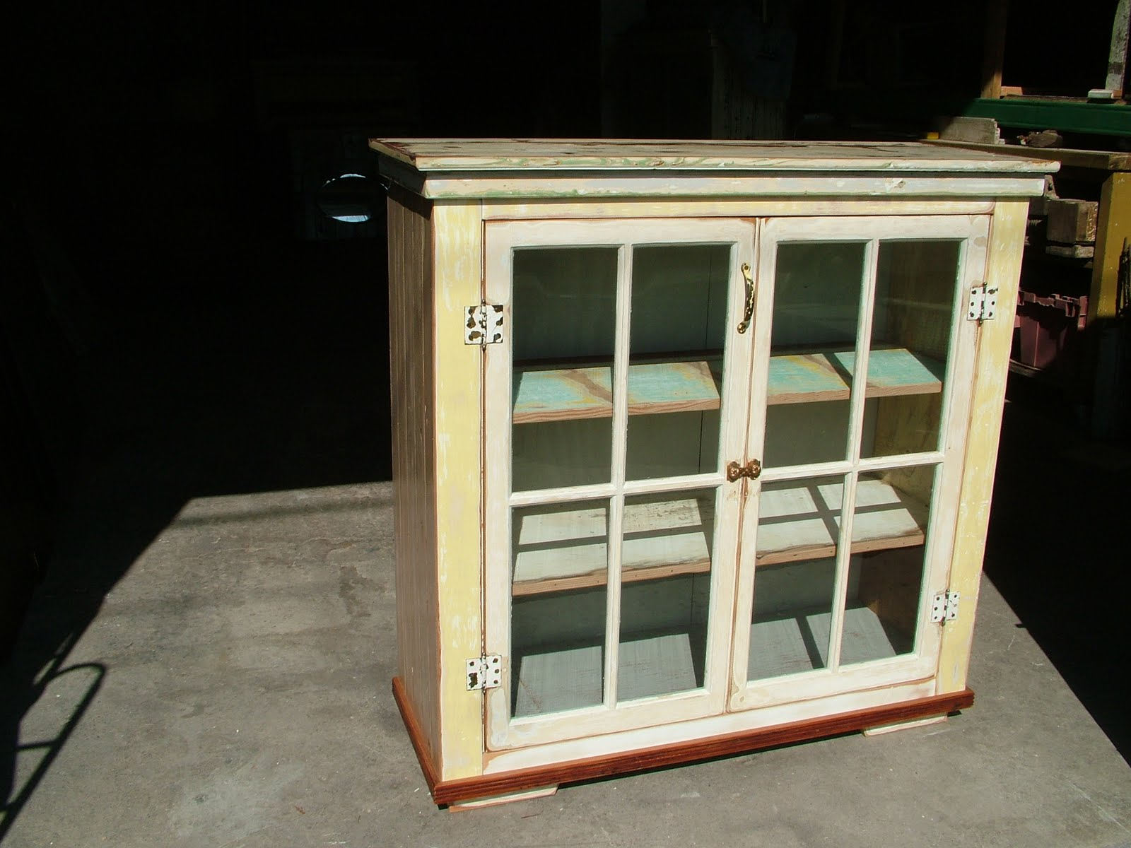 Old Glass Door Cabinet