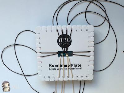 Pulseras kumihimo con puntas de flecha y corazones