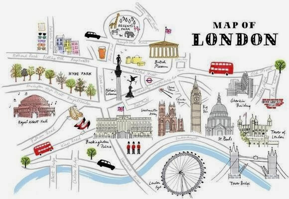 London Map Directions.Asking And Giving Directions Lost In London
