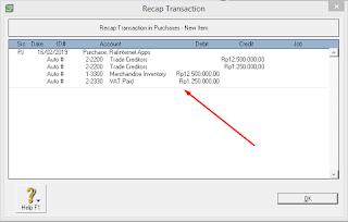 cara mencatat transaksi pembelian pada myob