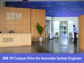 IBM Off-Campus Drive for Associate System Engineer: BE/BTech/ME/MCA: 3rd-4th October 2016