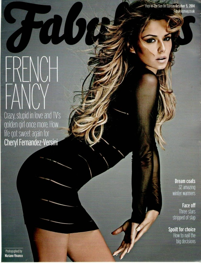 Cheryl Cole covers Fabulous Magazine October 2014