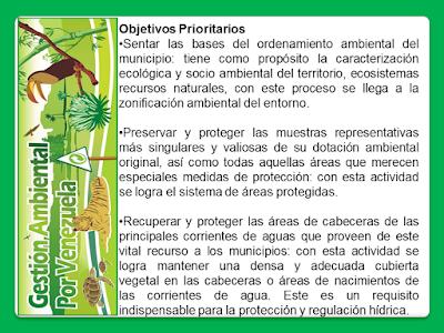 Objetivos de la Gestión Ambiental