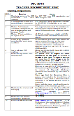 Clarifications DSC 2018 - Clarifications for Doubts of DSC 2018 Candidates-Frequently asking questions for DSC-2018
