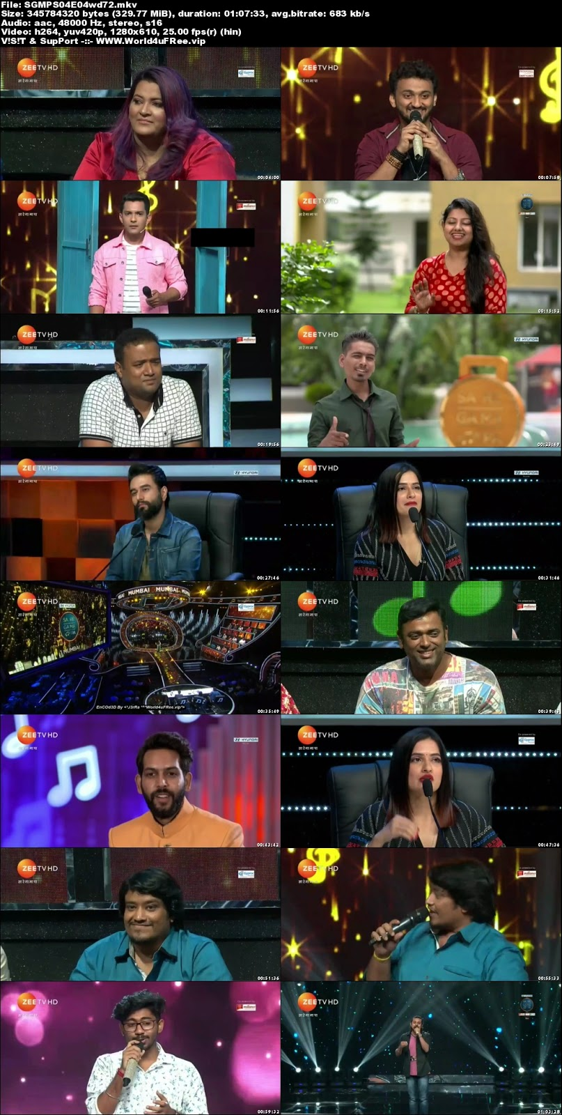 Sa Re Ga Ma Pa 2018 S04 Episode 04 720p HDTV 350Mb x264 world4ufree.vip tv show Sa Re Ga Ma Pa 2018 S04 2018 hindi Zee tv show compressed small size free download or watch online at world4ufree.vip