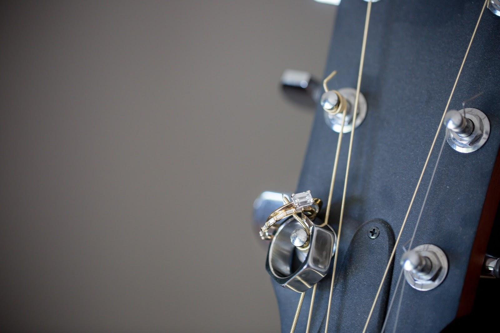 guitar wedding rings