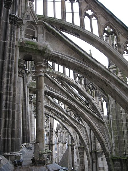 These Flying Buttresses At The Cathedral Of Our Lady Amiens Built Between 1220