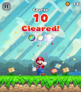 Super Mario Run, Remix 10 Mode, Cleared Course 10, Screen Image