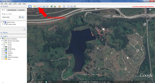 Mendapatkan Informasi Luasan Area Menggunakan Google Earth