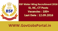 BSF Recruitment for Sub Inspectors 2016